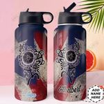 Puerto Rico Personalized DNC1410012 Stainless Steel Bottle with Straw Lid