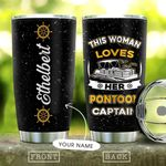 Pontoon Women Personalized DNE1010031 Stainless Steel Tumbler