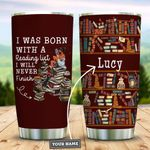 Book Lover Personalized KD2 DHL1310007 Stainless Steel Tumbler
