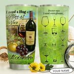 Huge Glass Of Wine Personalized THV1510004 Stainless Steel Tumbler