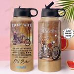 Biker Wife Personalized MDA2010020 Stainless Steel Bottle With Straw Lid