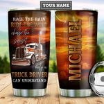 Personalized Trucker Chase The Sunset PYZ1410017 Stainless Steel Tumbler