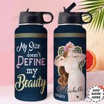 Big Girl Personalized HHE2809001 Stainless Steel Bottle With Straw Lid