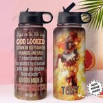 God Firefighter KD4 Personalized HHA1710004 Stainless Steel Bottle With Straw Lid