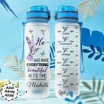 Faith Hummingbird Personalized HHE0310030 Water Tracker Bottle