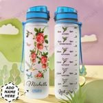 Hummingbird Rose Personalized HHE0310034 Water Tracker Bottle