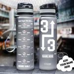Baseball Personalized HHA2207017 Black Water Tracker Bottle