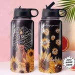 BW KD4 Personalized HHA0810002 Stainless Steel Bottle With Straw Lid