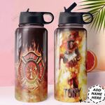 Firefighter Personalized HHA0810009 Stainless Steel Bottle With Straw Lid
