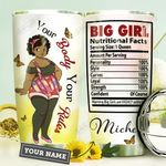 Black Big Girl Personalized HHE3009018 Stainless Steel Tumbler