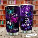 Faith Hope Love Butterfly Personalized KD2 MAL3009011 Stainless Steel Tumbler
