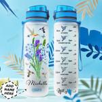 Hummingbird Wildflowers Personalized HHE0310033 Water Tracker Bottle