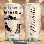Border Collie Personalized HHE2809015 Stainless Steel Tumbler