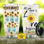 Butterfly Sunflower Personalized KD2 MAL0710007 Stainless Steel Tumbler