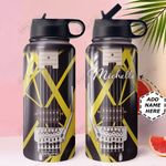 Guitar Personalized HHW0610007 Stainless Steel Bottle With Straw Lid
