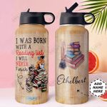 Books Personalized DNC1410009 Stainless Steel Bottle with Straw Lid