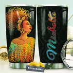 Black Women Colorful Personalized HTQ0910009 Stainless Steel Tumbler