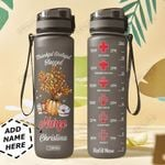 Nurse Personalized MDA0409036 Black Water Tracker Bottle