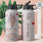 Love Black Women Personalized HHE2309003 Stainless Steel Bottle With Straw Lid