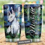 Bull Terrier Starry Night Personalized HTR2409005 Stainless Steel Tumbler