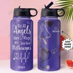 EMS Uniform KD4 Personalized HHA1610007 Stainless Steel Bottle With Straw Lid