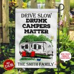 Camping Family Personalized KD2 MAL0310001 Flag