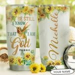 Hummingbird Faith Personalized HTR1710034 Stainless Steel Tumbler