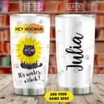 Cat Sunflower Personalized KD2 HAM0110013 Stainless Steel Tumbler