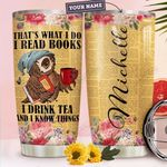 Owl Book Personalized HTR1510013 Stainless Steel Tumbler