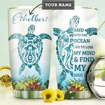 Turtle Ocean Personalized DNA1210010 Stainless Steel Tumbler