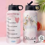 Crochet Personalized HHA1610006 Stainless Steel Bottle With Straw Lid