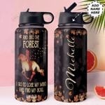 Forest Personalized HHA1310007 Stainless Steel Bottle With Straw Lid