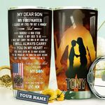 Mom Firefighter KD4 Personalized HHA1710015 Stainless Steel Tumbler