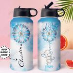 Elephant Diabetes Personalized MDA2809011 Stainless Steel Bottle With Straw Lid
