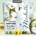 Faith Hummingbird Personalized HHE0310041 Stainless Steel Tumbler