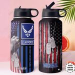 Air Force Personalized MDA0310003 Stainless Steel Bottle With Straw Lid