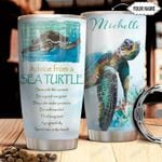 Sea Turtle KD4 Personalized HHA2110013 Stainless Steel Tumbler