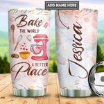 Personalized Baking Better World PYZ2110005 Stainless Steel Tumbler