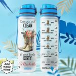 Cowgirl Personalized HTR2110001 Water Tracker Bottle