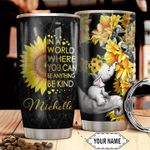 Elephant Sunflower Personalized HTR2110014 Stainless Steel Tumbler
