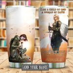 I Am The Storm Jesus Personalized KD2 KHX2210002 Luminous Stainless Steel Tumbler