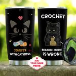 Crochet Black Cat Personalized KD2 MAL2210009 Stainless Steel Tumbler