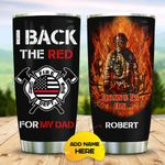 Firefighter Dad Personalized KD2 MAL2310010 Stainless Steel Tumbler