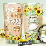 Sloth Personalized DNA2310005 Stainless Steel Tumbler
