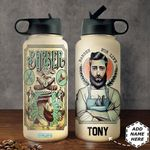 Barber Personalized HHA2310009 Stainless Steel Bottle With Straw Lid