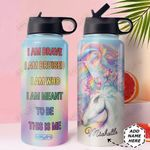Unicorn Personalized MDA2310022 Stainless Steel Bottle With Straw Lid