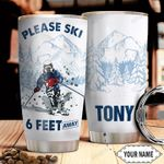 Skiing Personalized HHR2310022 Stainless Steel Tumbler