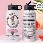 French Bulldog Personalized DNA2610002 Stainless Steel Bottle With Straw Lid