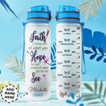 Faith Dragonfly Personalized HHA2710001 Water Tracker Bottle