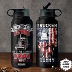 Trucker Personalized HHA2710003 Stainless Steel Bottle With Straw Lid